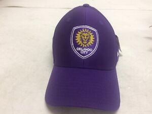Adidas Orlando City SC MLS Team Adjustable Strap Back Med Cap Hat Purple