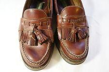 H.S. TRASK Leather Tassel Loafers Bozeman Montana mens size 8m Vibram sole dress