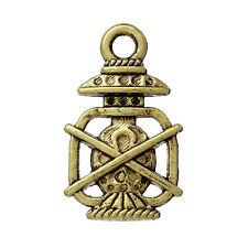 10 Gold Tone CAMPING LANTERN Pewter Charms or Pendants chg0155