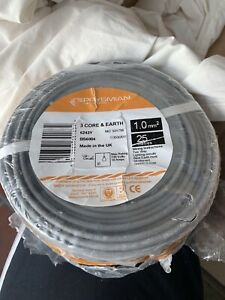 20m 1mm 3 Core and Earth Prysmian BASEC Harmonised Cable
