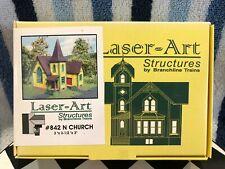 CNC123 N Scale Laser-Art Structures #842 Church NIB