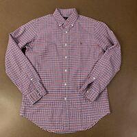 Ralph Lauren Men's Size Small Red White Blue Plaid Checks Long Sleeve Shirt