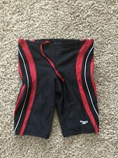 NWOT boys speedo swimsuit Size 30 Red And Black