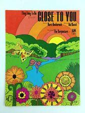 Carpenters Close To You Sheet Music Piano Vocal Guitar Pop 1969 Groovy Cover
