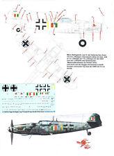 Bf 109 G-14, Mario Bellagambi, Yellow 1, ANR, Peddinghaus Decals 72 3634 1/72