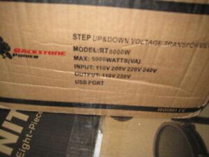 Rockstone Power 5000 Watt Voltage Converter Transformer Step Up/Down Power