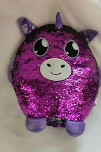 Glitterpalz sequin unicorn cushion