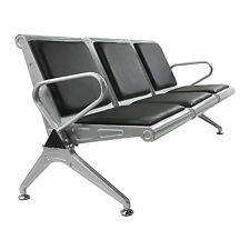 Heavy Duty 3Seat Bench Salon Office Bank Airport Reception Waiting Room Chair