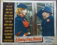 Marilyn Monroe 1952 Original Lobby Card O Henry's Full House Charles Laughton