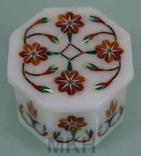Vintage Solid Marble Trinket Box Jewelry marble box Carnelian Crafts Mosaic Gift