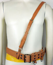 WWII CHINESE KMT OFFICER SAM BROWNE BELT LEATHER BELT STRAP-0310