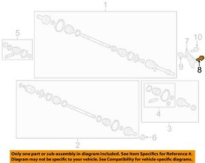 HONDA OEM 11-17 Odyssey Drive Axles-Front-Support Bolt 90102SF1000