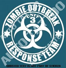 ZOMBIE OUTBREAK RESPONSE TEAM DECAL STICKER REANIMATED LIVING DEAD STICKERS