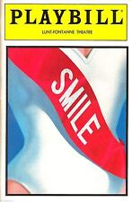 "Marvin Hamlisch ""SMILE"" Howard Ashman / Jodi Benson 1986 FLOP Opening Playbill"