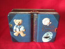 Silver Crane Company Small Teddy Book Tin Ocean Voyage
