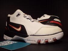 Kids 04 Nike Air ZOOM GENERATION PS LEBRON 1 WHITE BLACK CRIMSON RED 11.5C  11.5