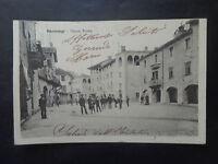 CARTOLINA CUNEO RACCONIGI PIAZZA ROMA VIAGGIATA DEL 1902 NUMISMATICA SUBALPINA