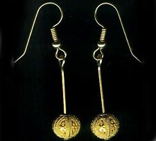 Antique 22kt Gold Russian Ancient Near East Minoan Granulation Style Earrings