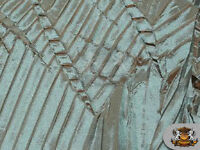 """Taffeta Bark Leaves Fabric MINT BLUE / 60"""" Wide / Sold by the yard"""