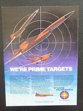 2/1984 PUB TELEDYNE RYAN AERONAUTICAL SUPERSONIC LOW ALTITUDE TARGET ORIGINAL AD
