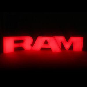 RAM Letters Red LED Lights for 2013-2018 Dodge Ram 1500 Front Bumper Grille Gril