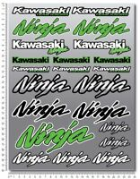 Ninja motorcycle decals stickers set zx10r z1000 zx9r Laminated zx6r Green kawa