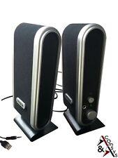 600w SPEAKER MULTIMEDIALE MINI CASSE DIFFUSORI PC PORTATILE NOTEBOOK USB BLK/SLBR
