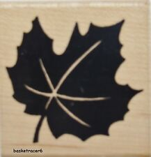 MAPLE LEAF Rubber Stamp JRL Design Brand NEW! Wood Block foliage