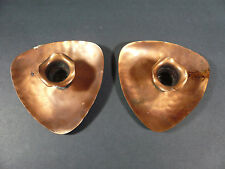 """Pair of Gregorgian Copper Candle Holders - Holds 1"""" Candles - Made in USA"""