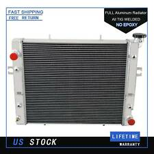 New listing 2 Row Aluminum Radiator Fit Toyota Forklift 1990-2011 4.3L V8 Double Oil Cooler