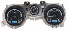 1971-73 Ford Mustang Dakota Digital Black Alloy & Blue VHX Analog Gauge Kit