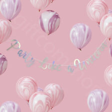 Iridescent 'Party Like a Unicorn' Bunting Banner Girls Birthday Party Decoration