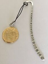 Gold Doubloon Coin WC36 Gold Made From Fine English Pewter On A PATTERN Bookmark