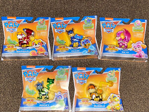 Paw Patrol Mighty Pups Super Paws Action Figure New Marshall Chase lot of 5