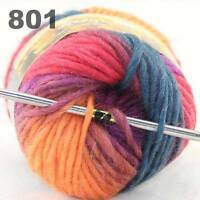 Sale 50g NEW Knitting Yarn Chunky Hand Colorful Wool Soft Warm Scarves Shawls 01