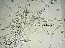 Old Antique Ordnance Map 1901 Merionethshire VIII.5 Gwyddelwern & Brynsaithmar..