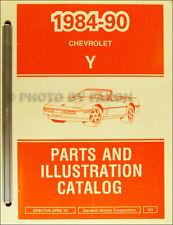 1990 Corvette Partes Libro Ilustrado Chevrolet Maestro Catalog Originales OEM