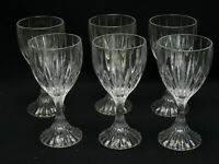 """LOT of 6 MIKASA CRYSTAL PARK LANE WATER GOBLET ~  6.75"""""""