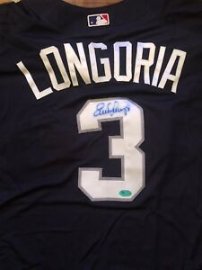 EVAN LONGORIA SIGNED TAMPA BAY RAYS ALL-STAR 2008 JERSEY AUTOGRAPH