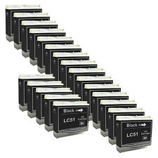 20 BLACK New LC51 Ink Cartridge for Brother MFC-230C MFC-235C MFC-240C MFC-260C