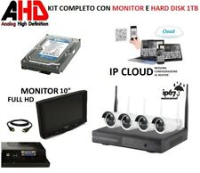 Kit videosorveglianza wifi 4 telecamere wireless dvr con monitor full hd 1tb