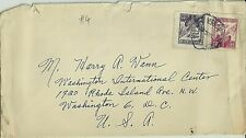 South Korea Stamps:1956 Cover # 4 to Washington D.C.  USA