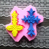 Silicone 3D Cross Fondant Mold Cake Decorating Sugarcraft Chocolate Mould Dgyj;