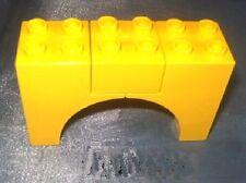Lego Duplo  Eisenbahn Brücke Brückensteine gelb  römische Sondersteine Bridge