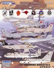 Fightertown Decals 1/48 USS ROOSEVELT CARRIER AIR WING 8 Desert Storm Nose Art