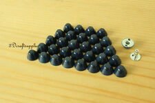 Purse feet studs leather rivet bag clothing shoes 100 sets 10 mm Royal blue M64D