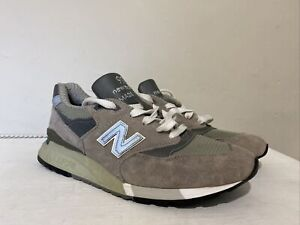 Men's New Balance M998 Made In USA Grey Running Shoes Trainers UK 8 EU 42 US 8.5