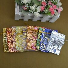 50 PCS WHOLESALE LOTS MIXED COLOR WEDDING SILK JEWELRY ORGANZA POUCH GIFT BAG1