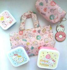 US SELLER Sanrio Hello Kitty Donut Ichiban Kuji Set Tote Lunch, Pouch, Bento NEW