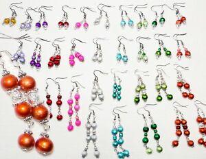Ohrhänger, Ohrringe mit Bali Perlen in vielen Farben und Ausführungen